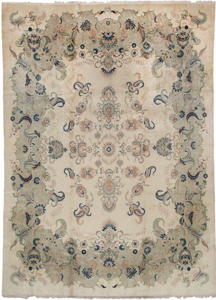 Unusual Fine, Signed Persian Kashan Carpet at Essie Carpets, Mayfair London