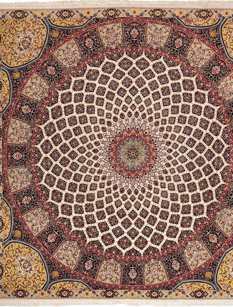 Fine Square Persian Tabriz Carpet at Essie Carpets, Mayfair London
