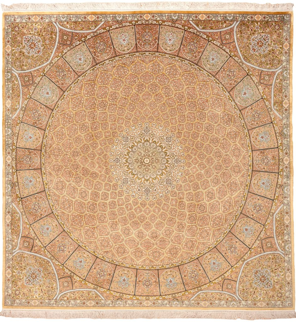 Fine Square Persian Tabriz Rug at Essie Carpets, Mayfair London