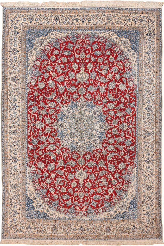 Fine Persian Nain Signed Carpet at Essie Carpets, Mayfair London