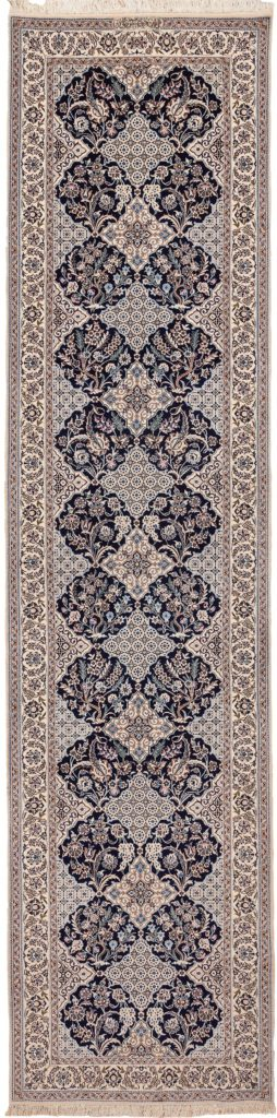 Extremely Fine Signed Persian Nain Runner Runner at Essie Carpets, Mayfair London