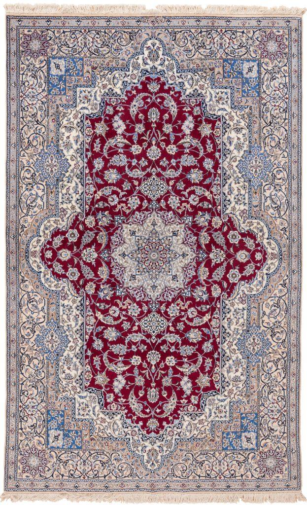 Fine Signed Persian Nain Rug at Essie Carpets, Mayfair London