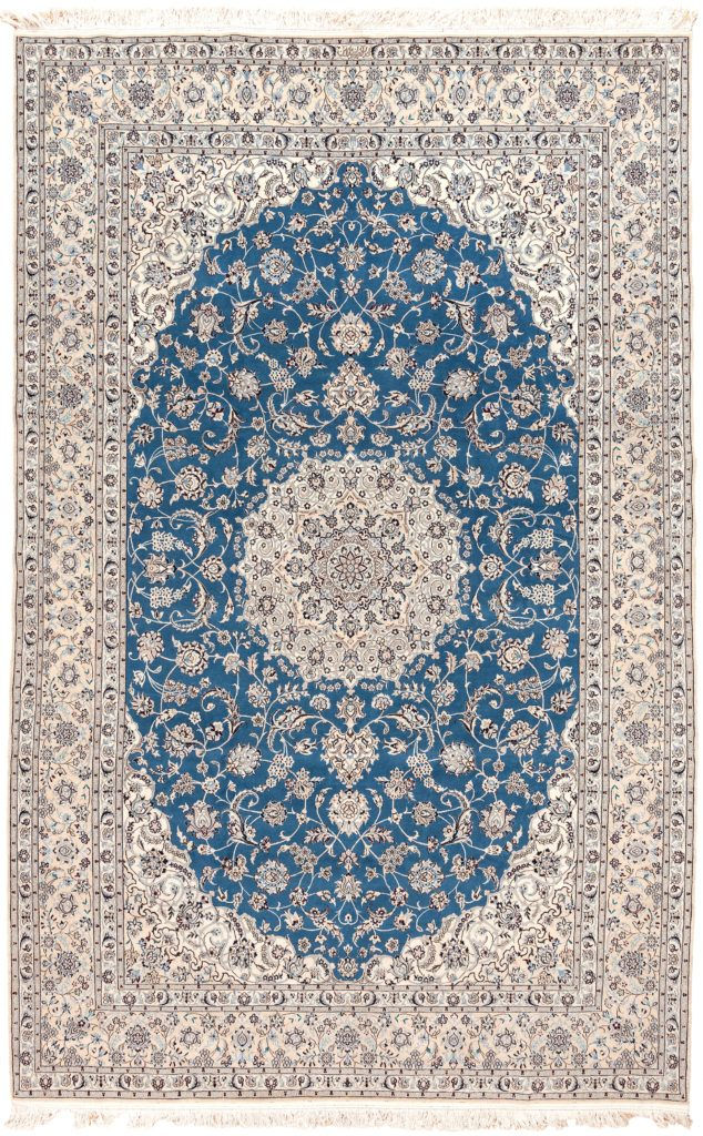 Extremely Fine, Signed  Persian Nain Carpet at Essie Carpets, Mayfair London