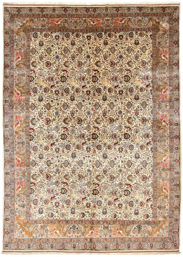 Very Fine Hereke Carpet at Essie Carpets, Mayfair London