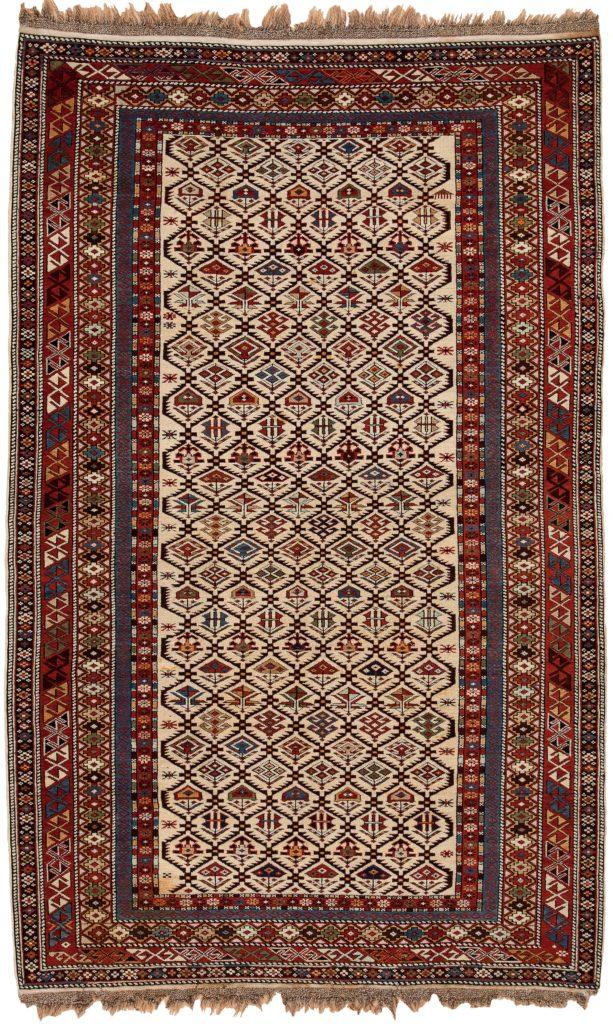 Antique Russian Dagestan Shirvan Rug at Essie Carpets, Mayfair London