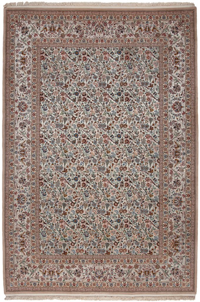 Extremely Fine Signed Persian Esfahan Carpet at Essie Carpets, Mayfair London
