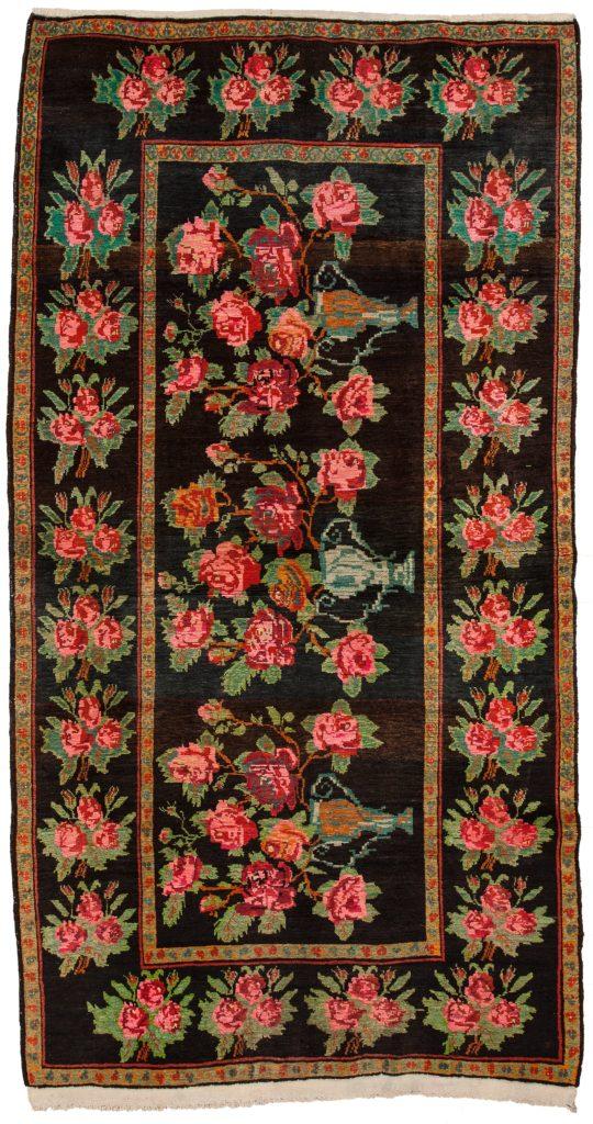 Russian Karabakh Gol Farangi Rug at Essie Carpets, Mayfair London