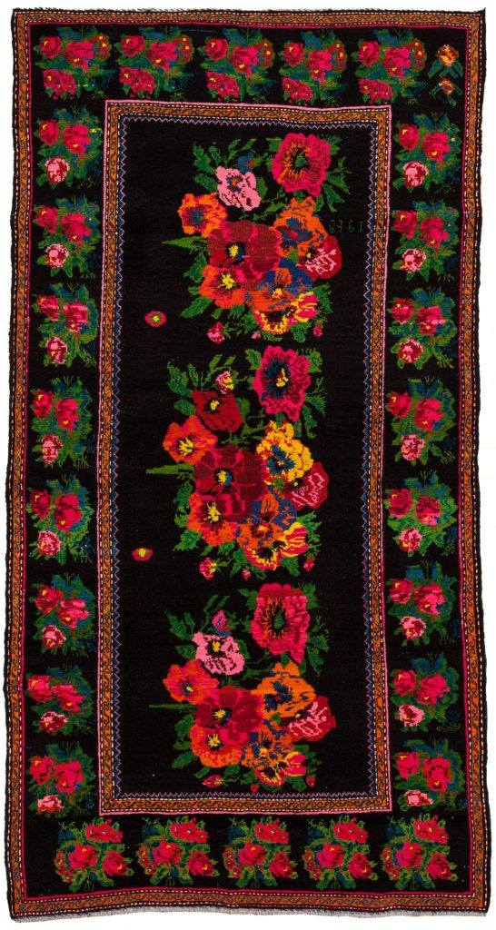 Dated  Russian Karabakh Gol Farangi Rug at Essie Carpets, Mayfair London