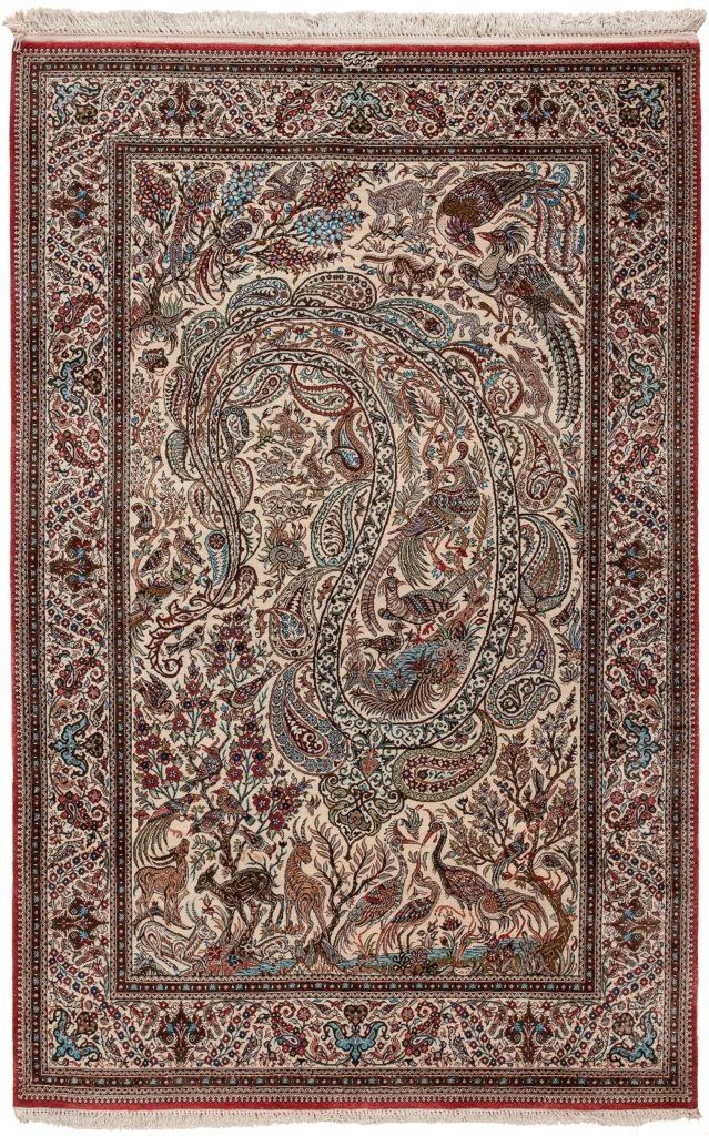 Exquisite Fine Signed Qum Rug at Essie Carpets, Mayfair London