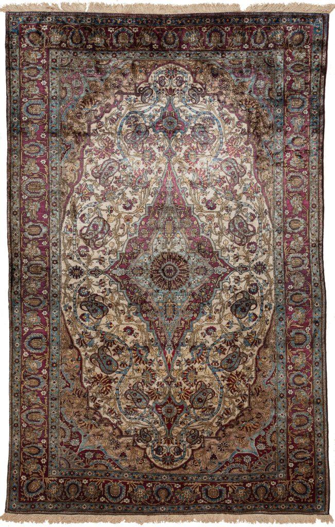 Very Old Persian Kashan Rug at Essie Carpets, Mayfair London