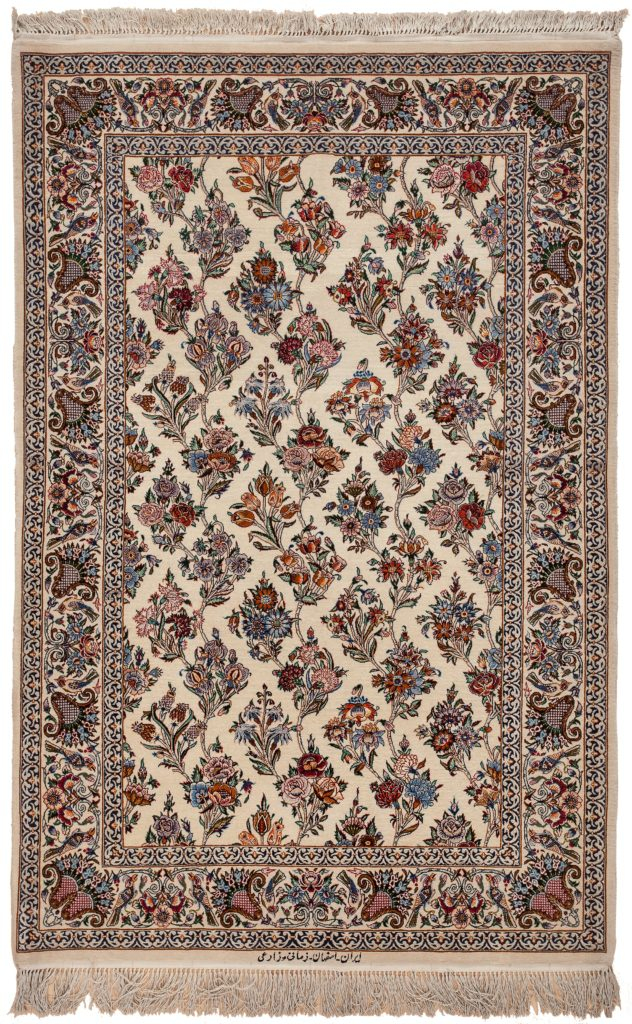 Signed Persian Esfahan Rug at Essie Carpets, Mayfair London
