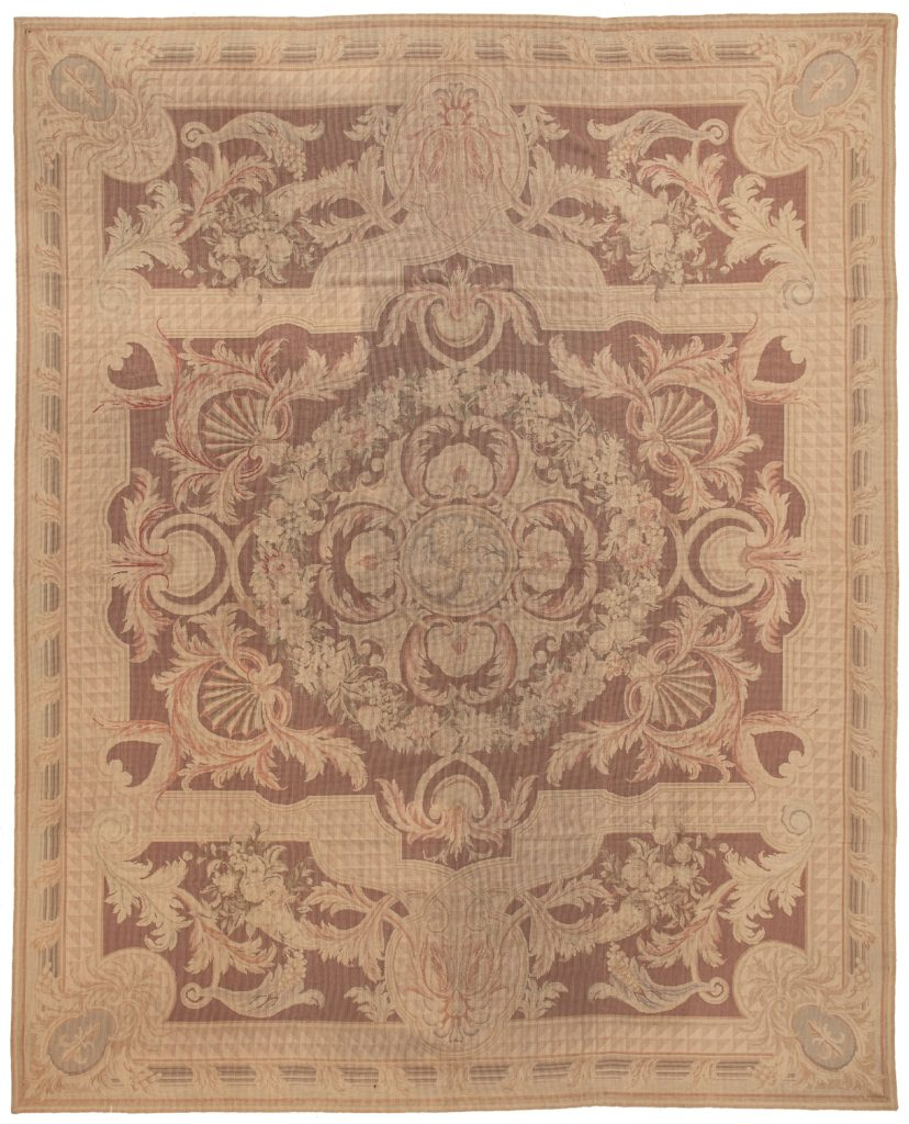 Central Medallion Tapestry at Essie Carpets, Mayfair London