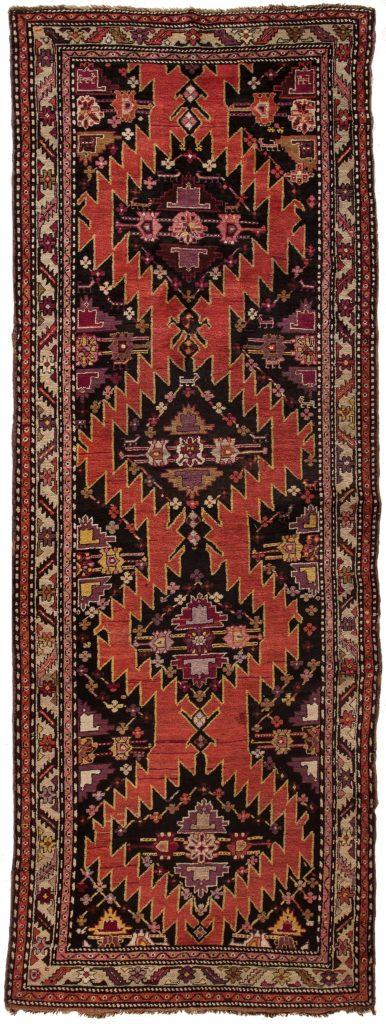 Antique Russian Karabakh Runner Runner at Essie Carpets, Mayfair London