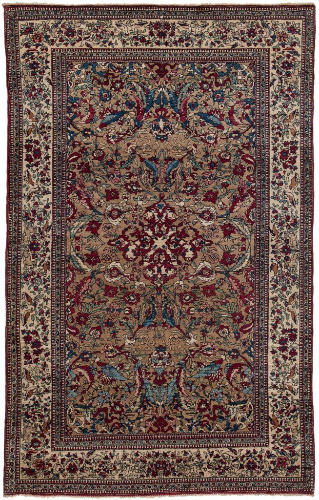Old Persian Esfahan Rug at Essie Carpets, Mayfair London