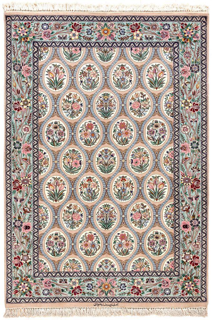 Fine Persian Esfahan Rug at Essie Carpets, Mayfair London