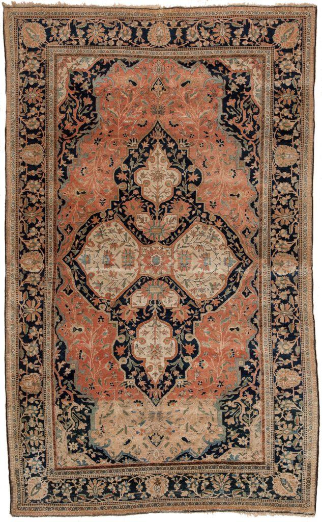 Persian Mohtashem Kashan Rug at Essie Carpets, Mayfair London