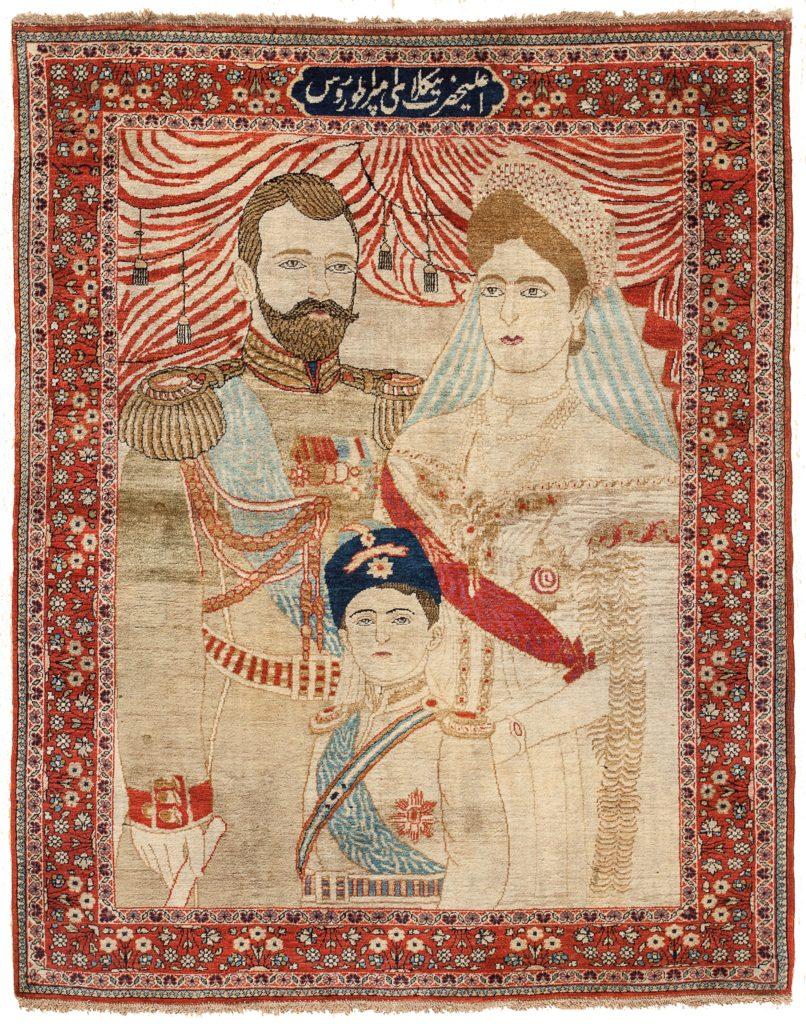 Unique Persian Mohtasham Kashan Carpet at Essie Carpets, Mayfair London