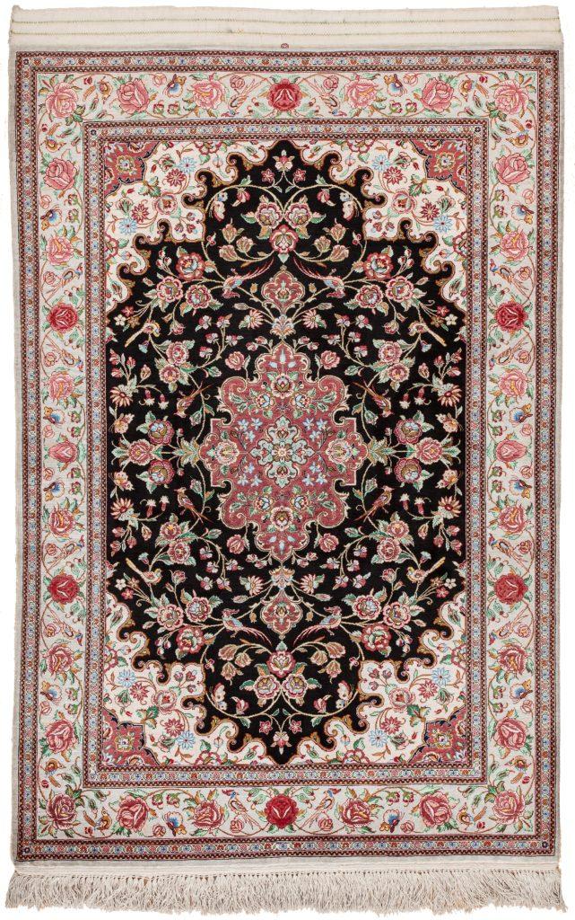 Pure Silk Persian Qum Rug at Essie Carpets, Mayfair London