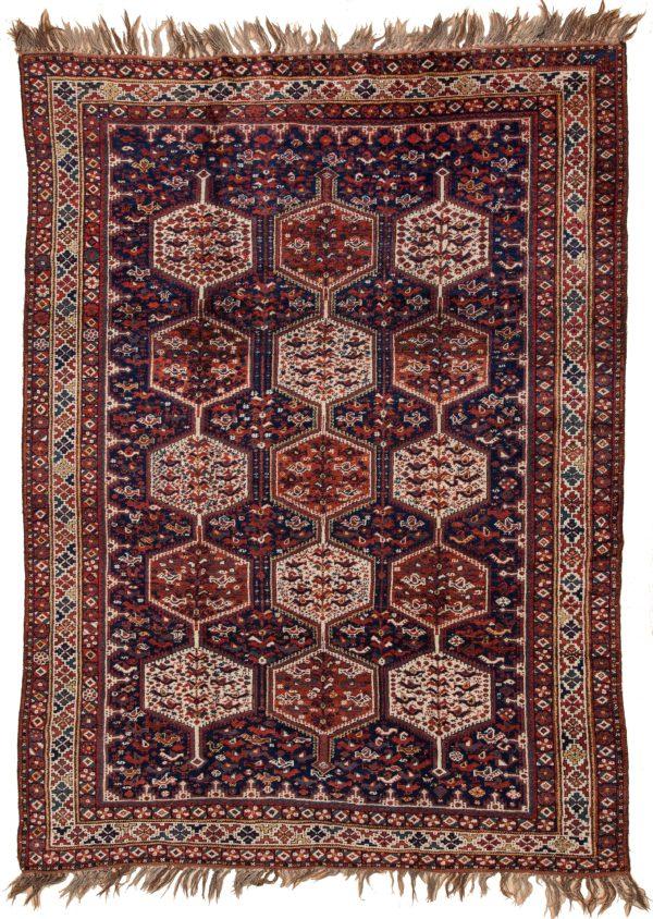 Persian Khamseh Rug at Essie Carpets, Mayfair London