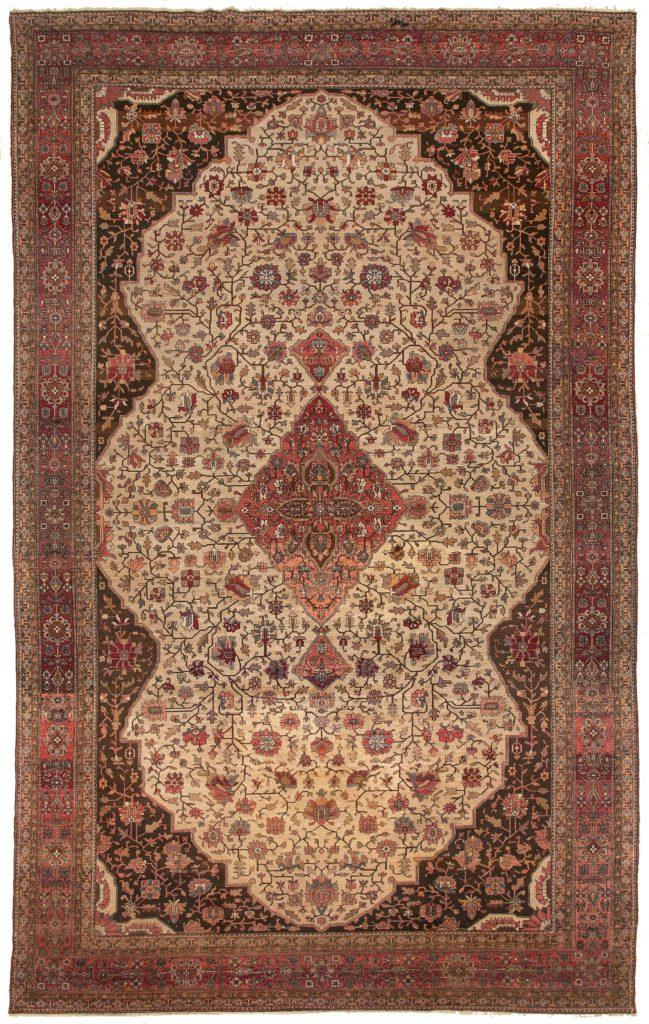 Antique  Persian Saruk  Carpet at Essie Carpets, Mayfair London