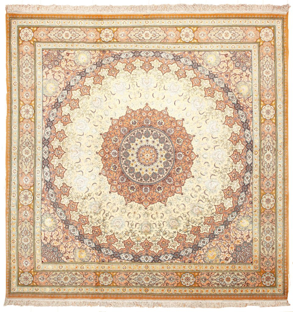 Signed, Rare Tabriz Rug at Essie Carpets, Mayfair London