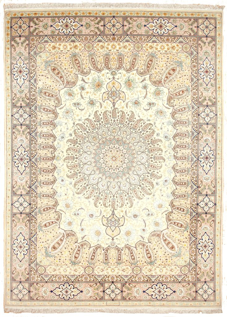 Signed original Fine Tabriz  Carpet at Essie Carpets, Mayfair London