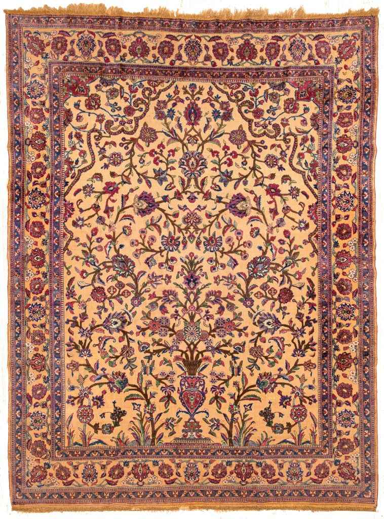 Antique Very Fine Kasahan Rug at Essie Carpets, Mayfair London