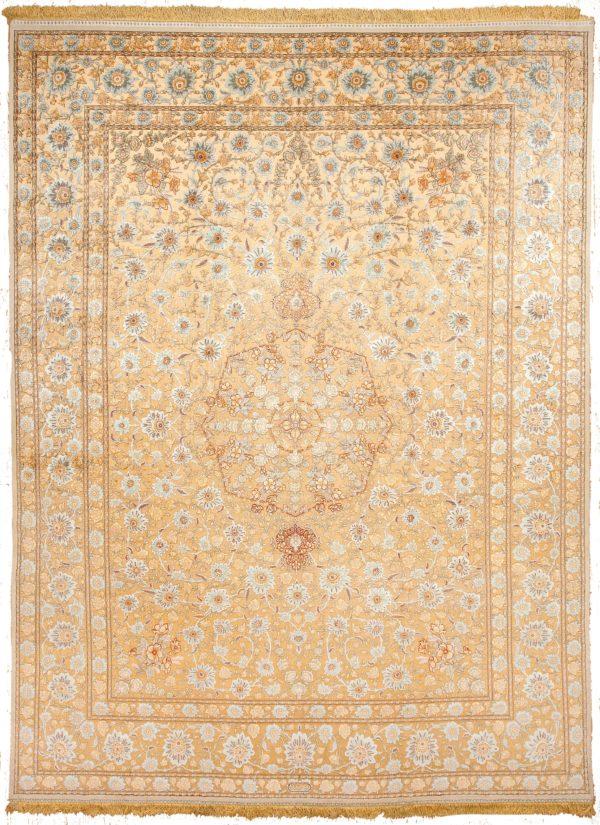Signed Tabriz Carpet at Essie Carpets, Mayfair London