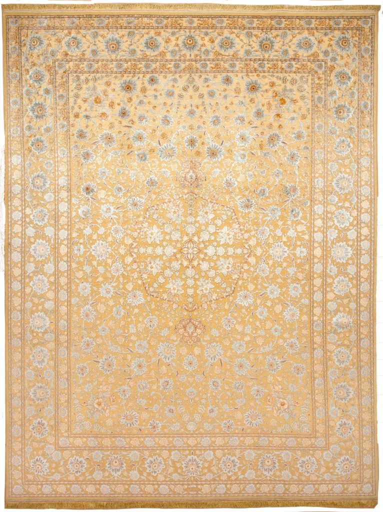 Very fine Signed Persian Tabriz Carpet at Essie Carpets, Mayfair London