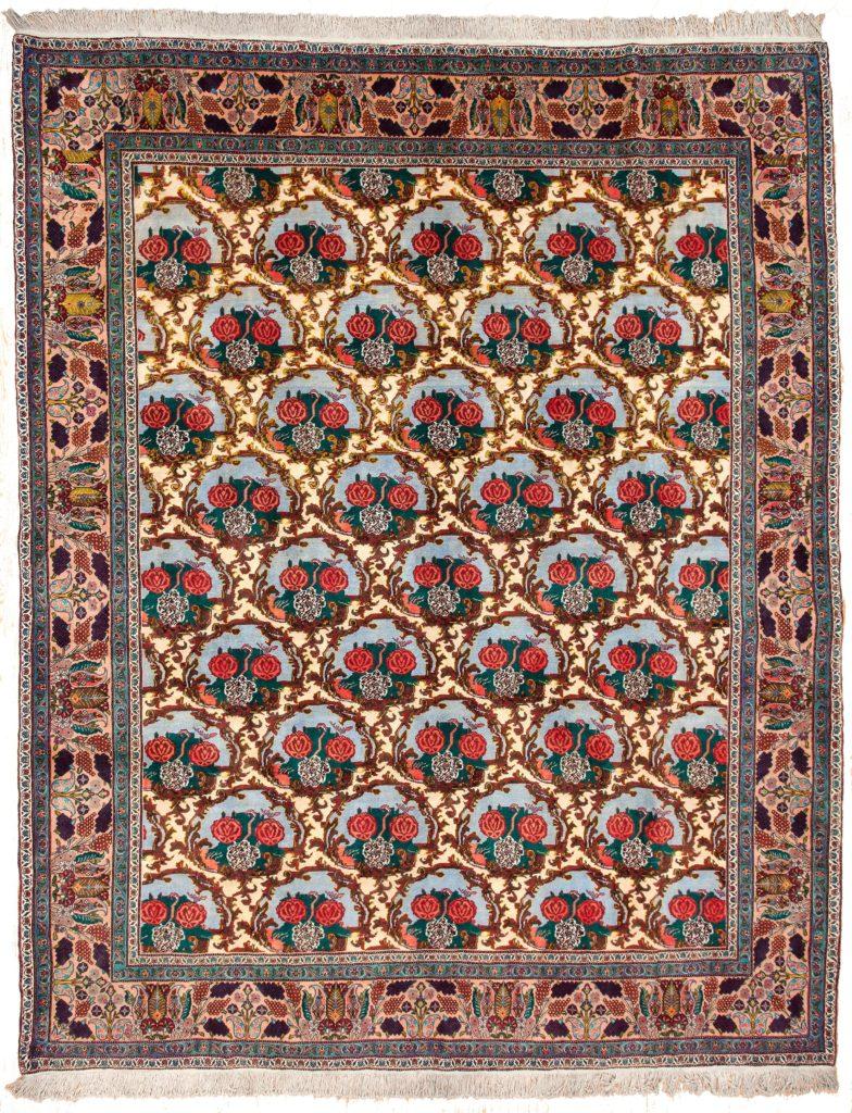 Persian Sanandaj Gol Farangi Carpet at Essie Carpets, Mayfair London