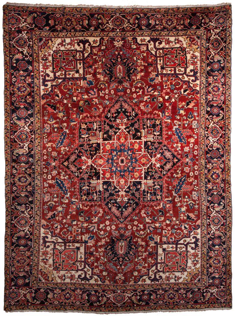 Old Persian Heriz Carpet at Essie Carpets, Mayfair London