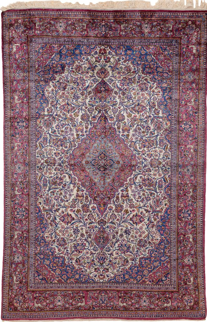 Antique Extremely Fine Persian Kashan Rug at Essie Carpets, Mayfair London
