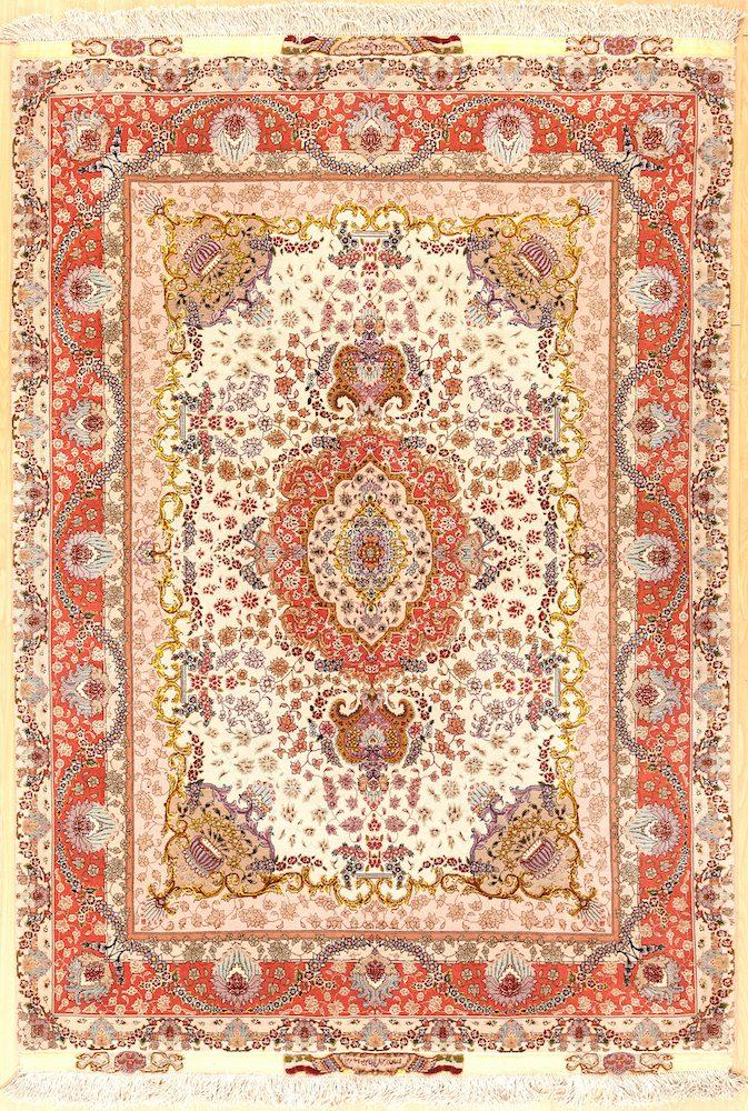 Delightful Signed Persian Tabriz Carpet Rug at Essie Carpets, Mayfair London