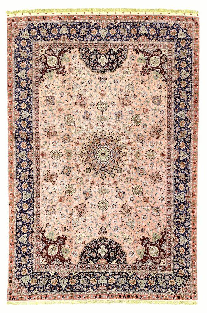 Pink Persian Tabriz Extra Large Carpet