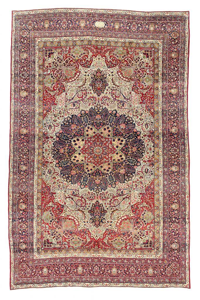 Extra Large Antique Ravar Kerman Extra Large Carpet at Essie Carpets, Mayfair London