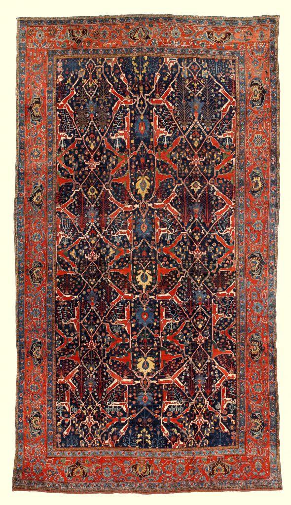 Antique Unique Persian Bidjar Extra Large Carpet at Essie Carpets, Mayfair London