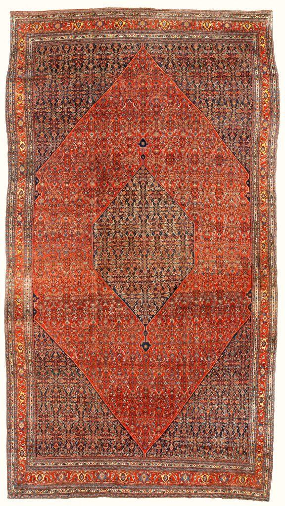 Antique Bidjar Persian Carpet at Essie Carpets, Mayfair London