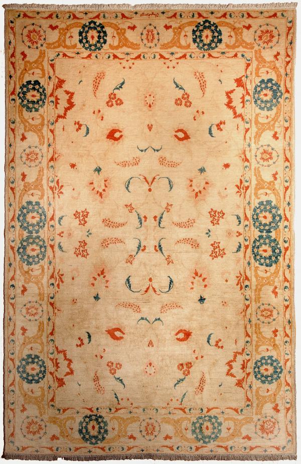 Signed Esfahan Rug at Essie Carpets, Mayfair London