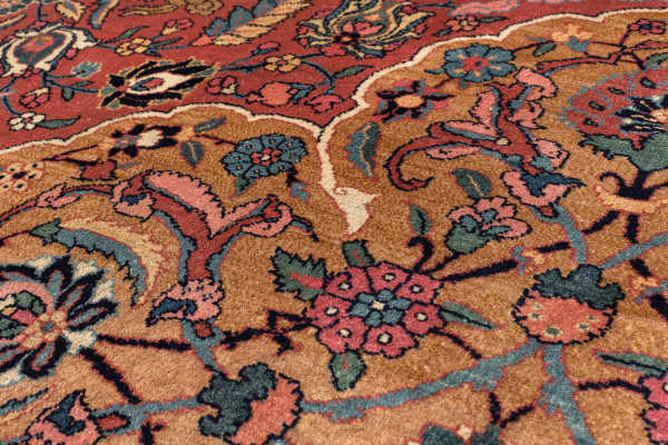 Persian Tabriz Wool Carpet - Central Medallion