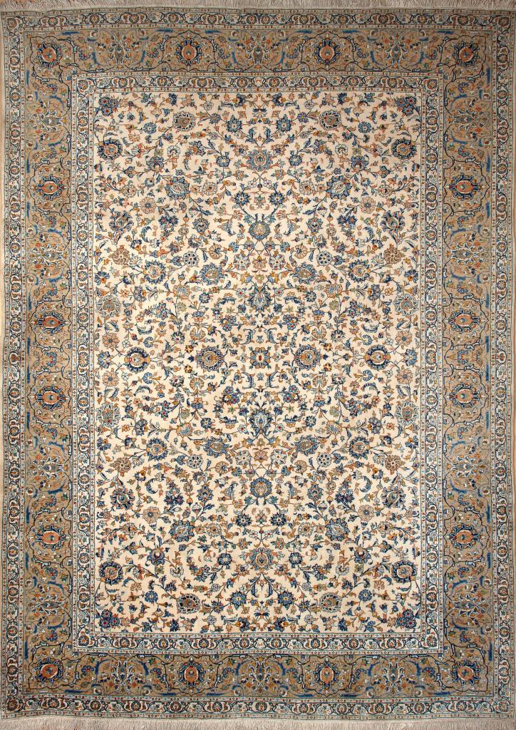 Persian Kashan Wool Carpet - Allover Design