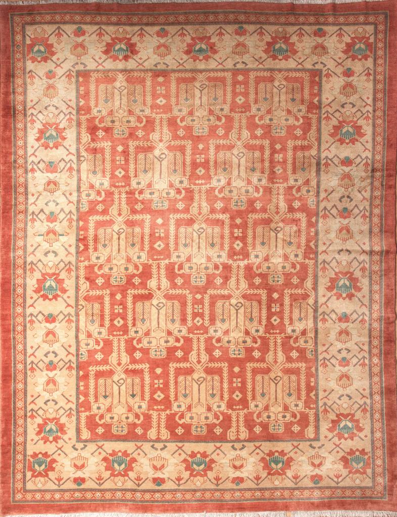 Persian Mahal Wool Carpet - Allover Design