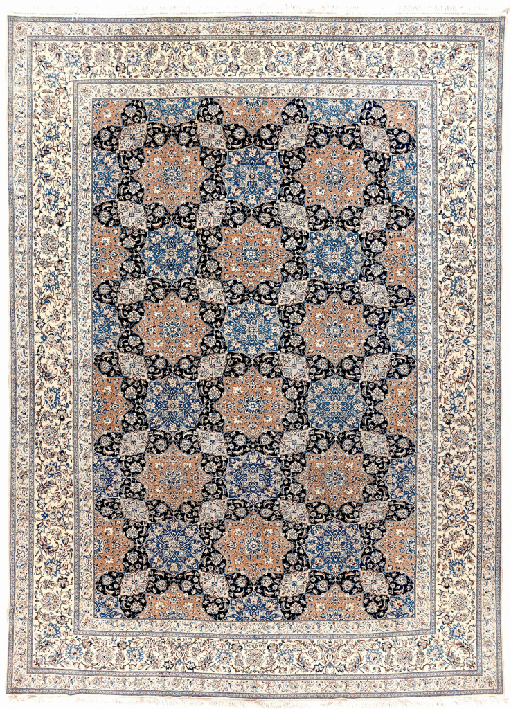 Persian Tudeshk Carpet - Fine Silk and Wool