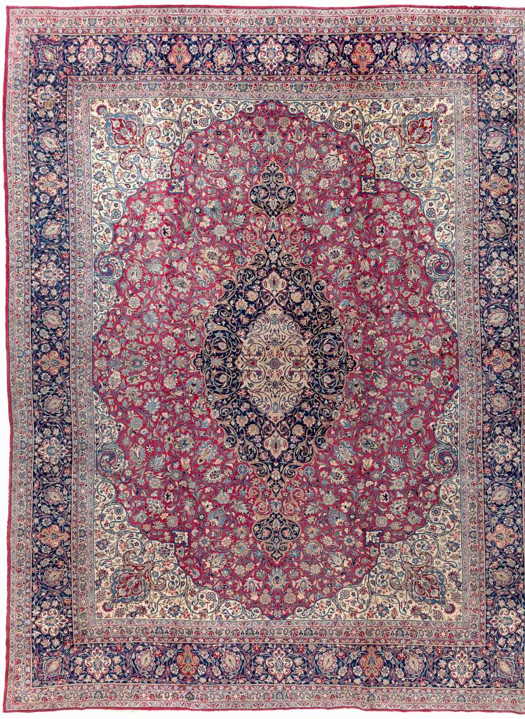 Persian Kerman Carpet - Fine Wool - Oversize