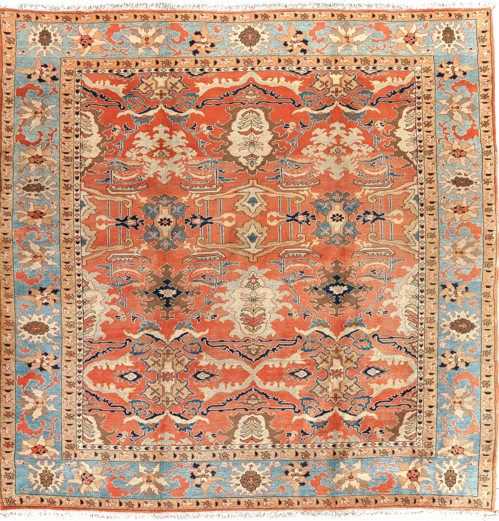 Persian Heriz Square Carpet - Wool