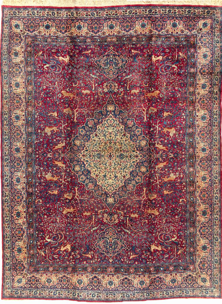 Persian Yazd Carpet - Fine Wool - Oversize