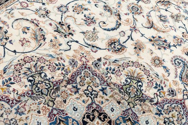 Persian Nain Carpet - Fine Silk and Wool
