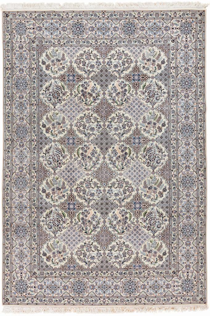 Persian Nain Fine Runner Rug - Silk and Wool