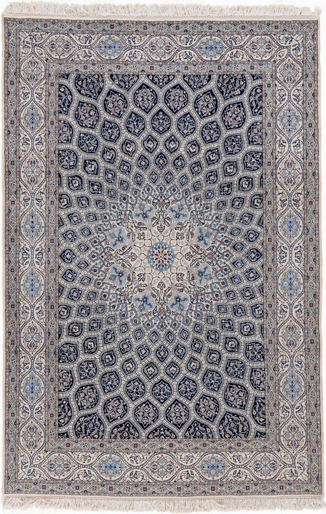 Persian Nain Rug - Fine Silk and Wool