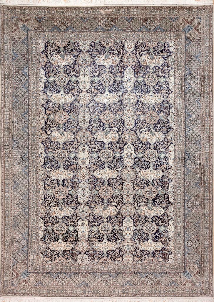 Fine Persian Nain Carpet - Silk and Wool - Allover Design
