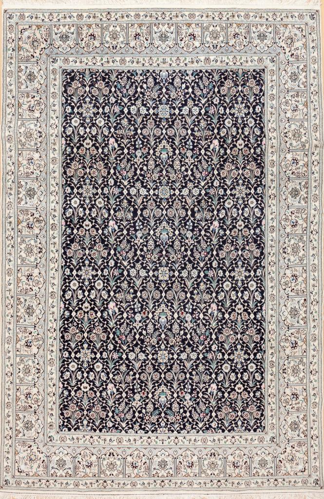 Persian Nain Carpet - Silk and Wool - Allover Design